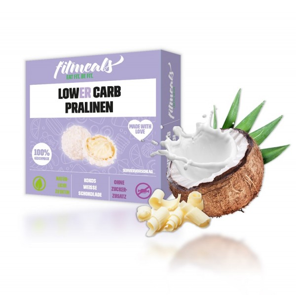Protein Pralinen - Kokos weiße Schokolade