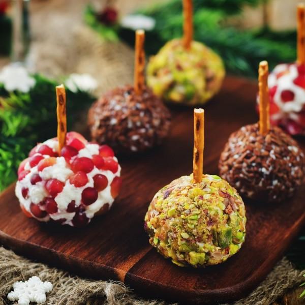 Ziegenkaese-Protein-Balls