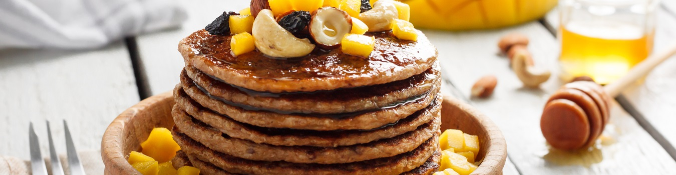 Mango-Nuss-Pancakes