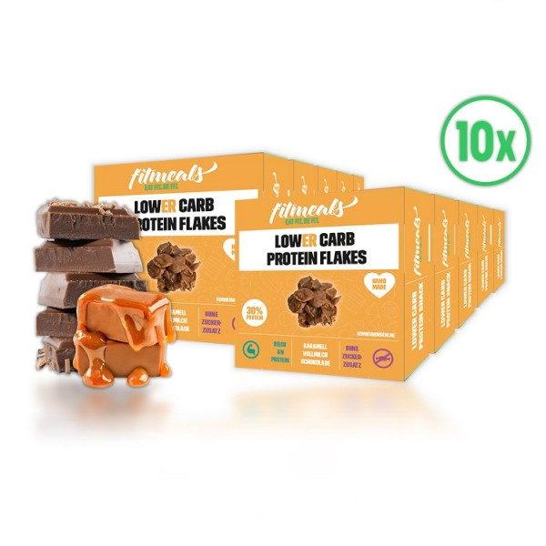 Low Carb Protein Flakes - Karamell (10er Pack)