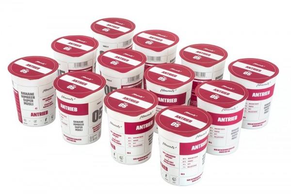 ANTRIEB (12 Pack) - Low Fat Protein Chia Samen Grüner Tee Müsli