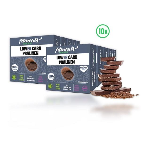 Protein Pralinen - Edle Zartbitter Schokolade 10er Pack