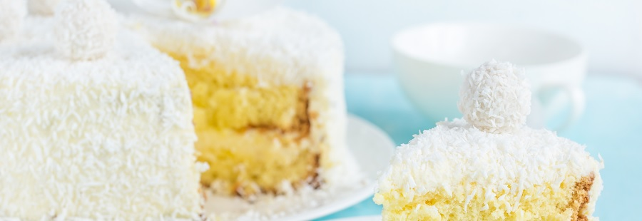 Protein-Pralinen-Kokos-Kuchen