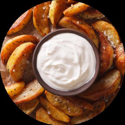 Mayo-Kartoffelecken
