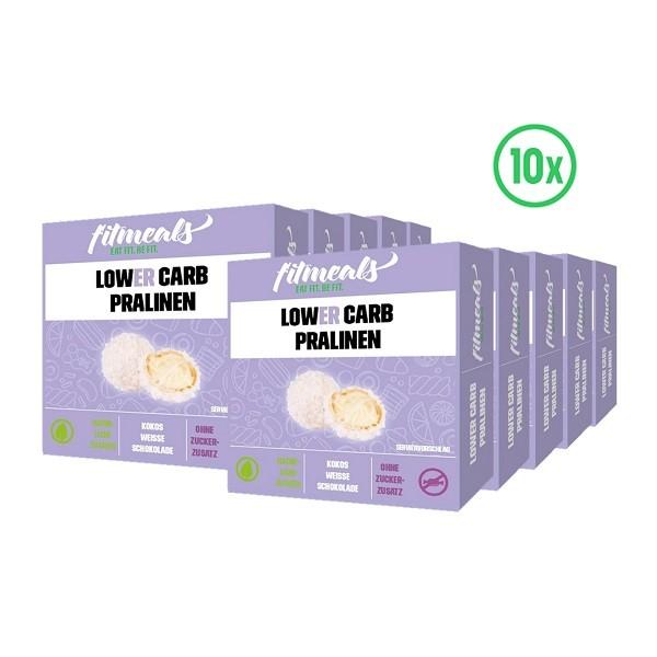 Protein Pralinen - Kokos weiße Schokolade 10er Pack