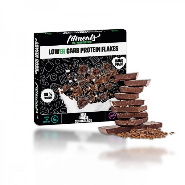 Lower Carb Protein Flakes - Zartbitter