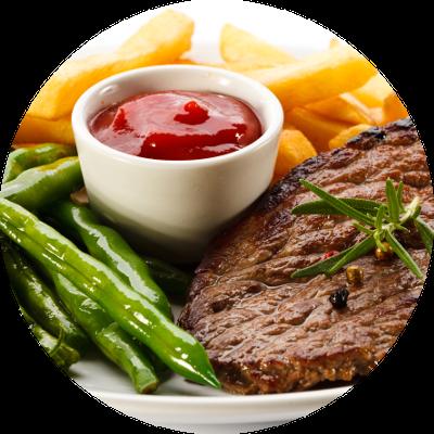 Ketchup-zum-Steak
