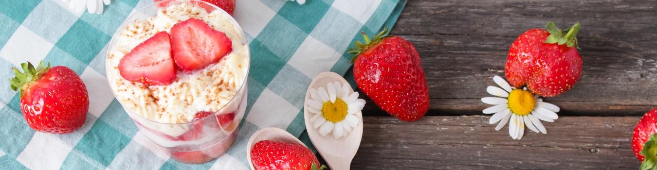 Protein-Erdbeer-Tiramisu