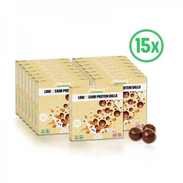 Lower Carb Protein Ballls Toffee Vollmilch 15er Pack