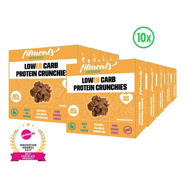 Low Carb Schoko Crossies - Karamell (10er Pack)