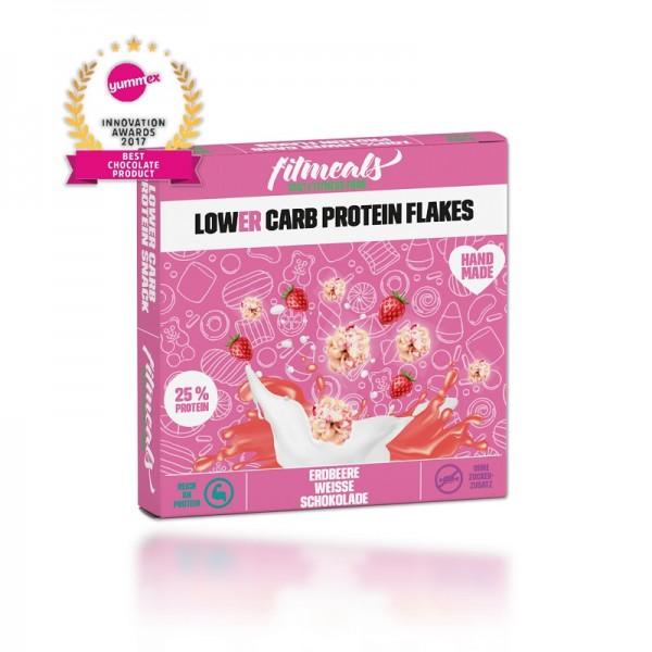 Lower Carb Schoko Flakes - Weiße Schokolade Erdbeere