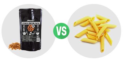 Vergleich Protein Nudeln mit Weizennudeln